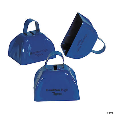 Blue Personalized Cowbells
