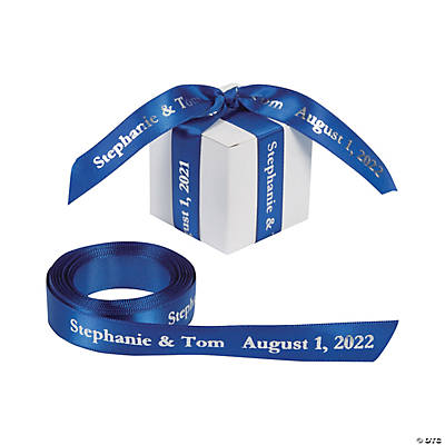 "Blue Personalized Ribbon - 5/8"" Image Thumbnail"