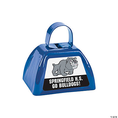 Blue Team Spirit Custom Photo Cowbells Image Thumbnail