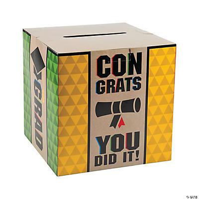 Bold Graduation Card Box