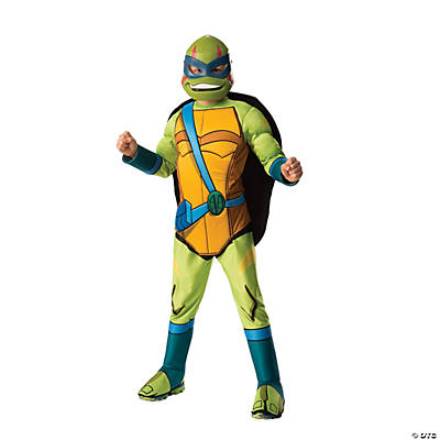 Details about  /NWT Boy/'s 4 Piece Leonardo Ninja Turtles Halloween Costume Padded Muscle Chest