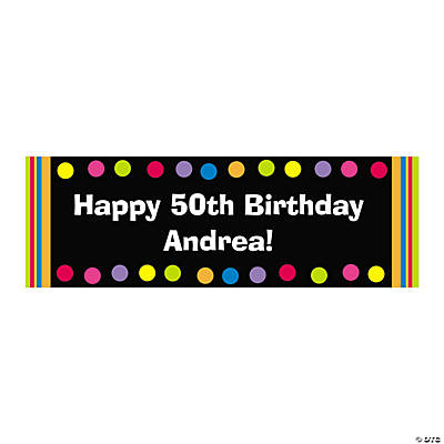 Bright Dots Birthday Custom Banner - Small Image Thumbnail