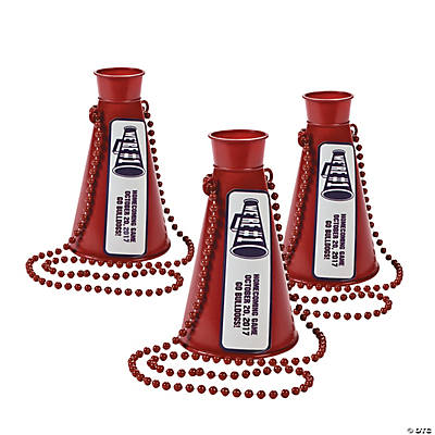 crafts for less burgundy team spirit personalized megaphone necklaces 1757