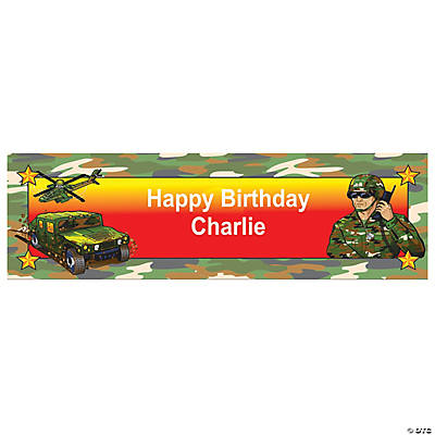 Camouflage Party Custom Banner - Small Image Thumbnail