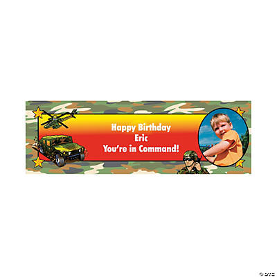 Camouflage Party Photo Custom Banner - Small Image Thumbnail