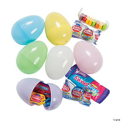 candy filled pastel plastic easter eggs