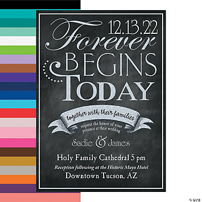 Cardstock Personalized Chalkboard Wedding Invitations