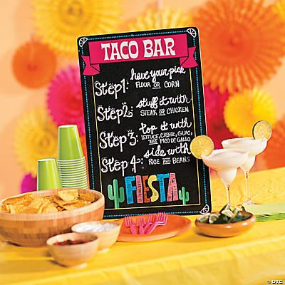 Chalkboard Taco Bar Sign