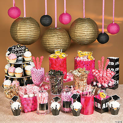 chic graduation candy buffet idea rh orientaltrading com ideas for candy buffet for birthday party candy buffet ideas for a boy baby shower