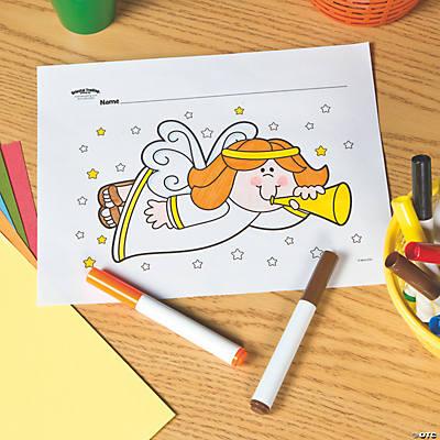christmas angel free printable coloring page