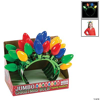 Christmas Bulb Light Up Headbands