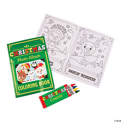 Christmas Coloring Books With Crayons Pdq