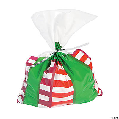 christmas present cellophane bags