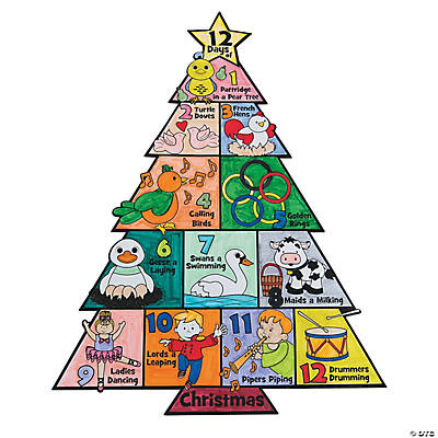 Christmas Posters.Color Your Own 12 Days Of Christmas Posters