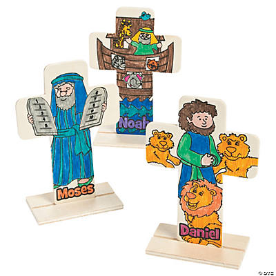 Color Your Own Bible Story Stand Up Crosses