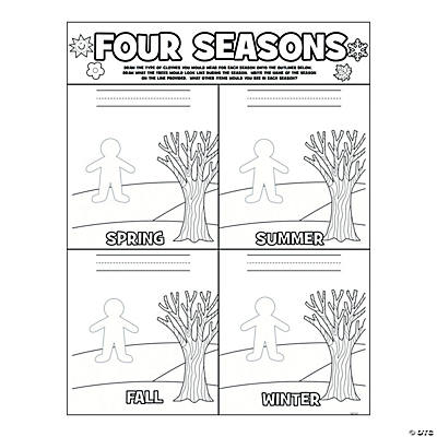 Color Your Own Seasons Poster