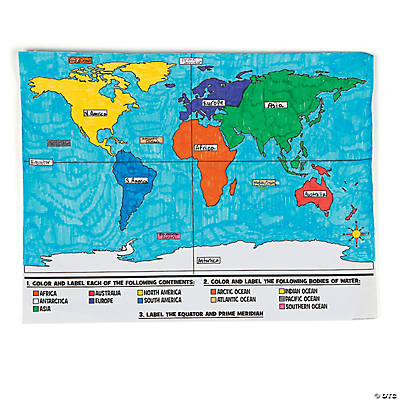 Color Your Own World Map Posters