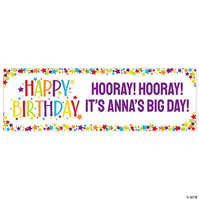 Colors & Confetti Birthday Custom Banner - Small Image Thumbnail