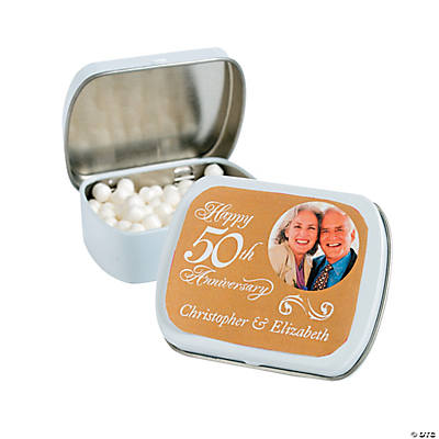 Custom Photo 50th Anniversary Mint Tins