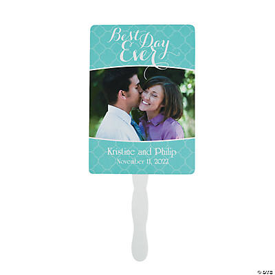Custom Photo Best Day Ever Hand Fans Image Thumbnail