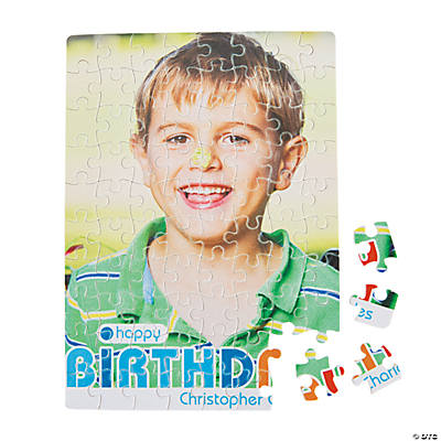 Custom Photo Birthday Boy Puzzle Image Thumbnail