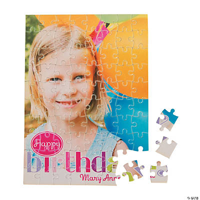 Custom Photo Birthday Girl Puzzle Image Thumbnail