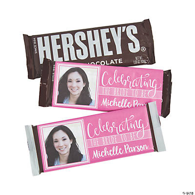 Custom Photo Bridal Shower Candy Bar Sticker Labels Image Thumbnail
