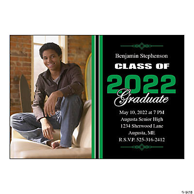 "Custom Photo ""Class of"" Graduation Invitations Image Thumbnail"