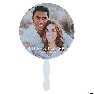 Custom Photo Classic Round Favor Fans