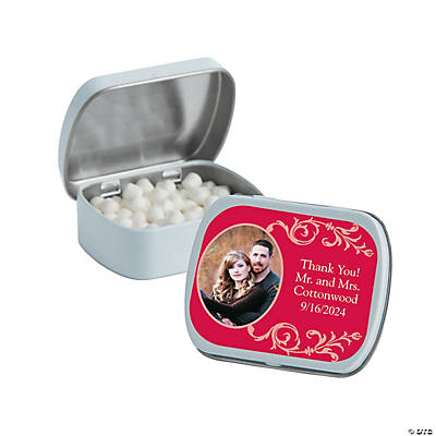 Custom Photo Filigree Mint Tins Image Thumbnail