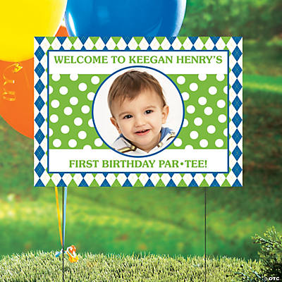 Custom Photo Golf Par-Tee Yard Sign