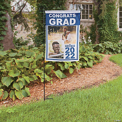 "Custom Photo Graduation Garden Flag - 13"" x 18 1/2"" Image Thumbnail"