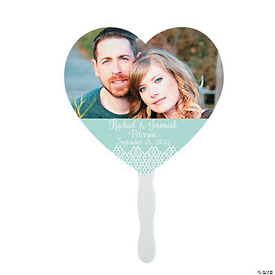 Custom Photo Heart-Shaped Hand Fans Image Thumbnail