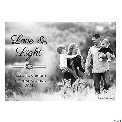 Custom Photo Love & Light Hanukkah Cards Image Thumbnail