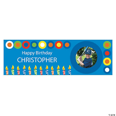 Custom Photo Medium Boys Birthday Vinyl Banner