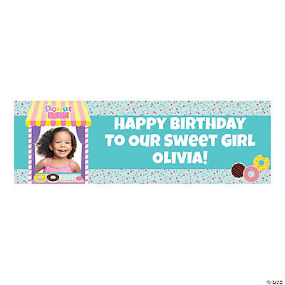 Custom Photo Medium Donut Party Vinyl Banner Image Thumbnail