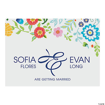 Custom Photo Mexican Floral Wedding Save the Date Cards