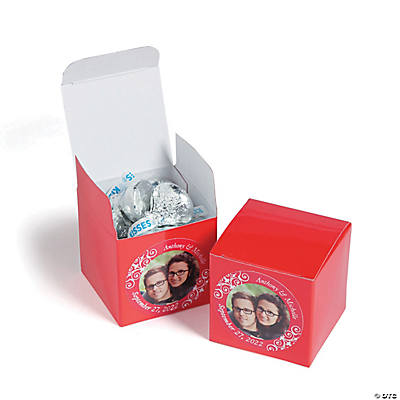 Custom Photo Mini Red Favor Boxes Image Thumbnail