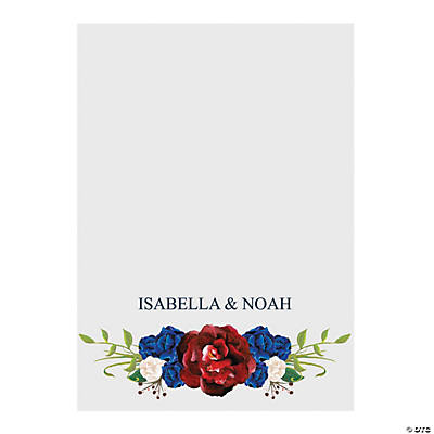 Custom Photo Navy Floral Thank You Postcards