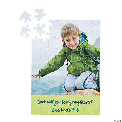 Custom Photo Ring Bearer Rectangular Puzzle
