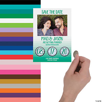 Custom Photo Scratch 'N Reveal Save-the-Date Cards