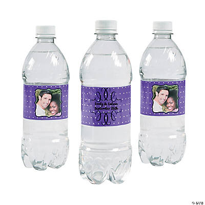 Custom Photo Scroll Water Bottle Labels
