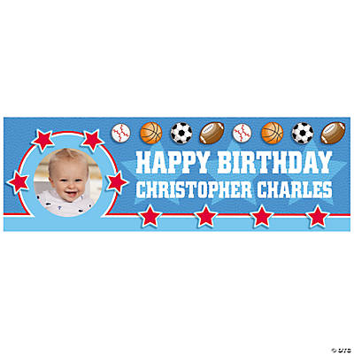 Custom Photo Small All Star Birthday Banner Image Thumbnail