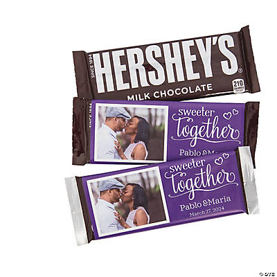 Custom Photo Sweeter Together Candy Bar Sticker Labels Image Thumbnail