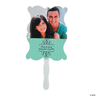 Custom Photo Wedding Hand Fans Image Thumbnail