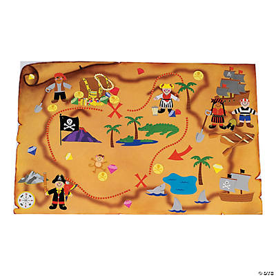 DIY Giant Treasure Map Sticker Scenes on a map of life, a map of love, a map of home, a map of cascade, a map of roosevelt, a map of jupiter, a map of sahara, a map of time, a map of ocean, a map of odyssey,