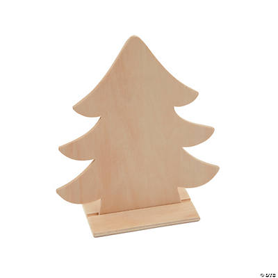 Wooden Christmas Trees.Diy Unfinished Wood Christmas Tree Stand Ups