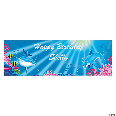 Dolphin Party Custom Banner - Small Image Thumbnail
