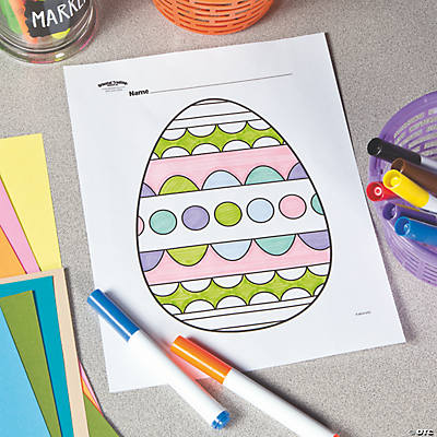Easter Egg Free Printable Coloring Page