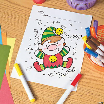 Elf Free Printable Coloring Page Image Thumbnail